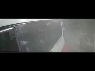 Train crashes into school bus at railway crossing