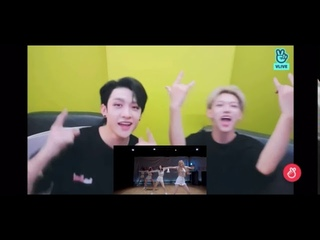 Stray Kids Bang Chan and Felix reacts and jams with BLACKPINK - Don't Know What To Do