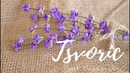 Лаванда из фоамирана DIY Tsvoric / Lavender from foma